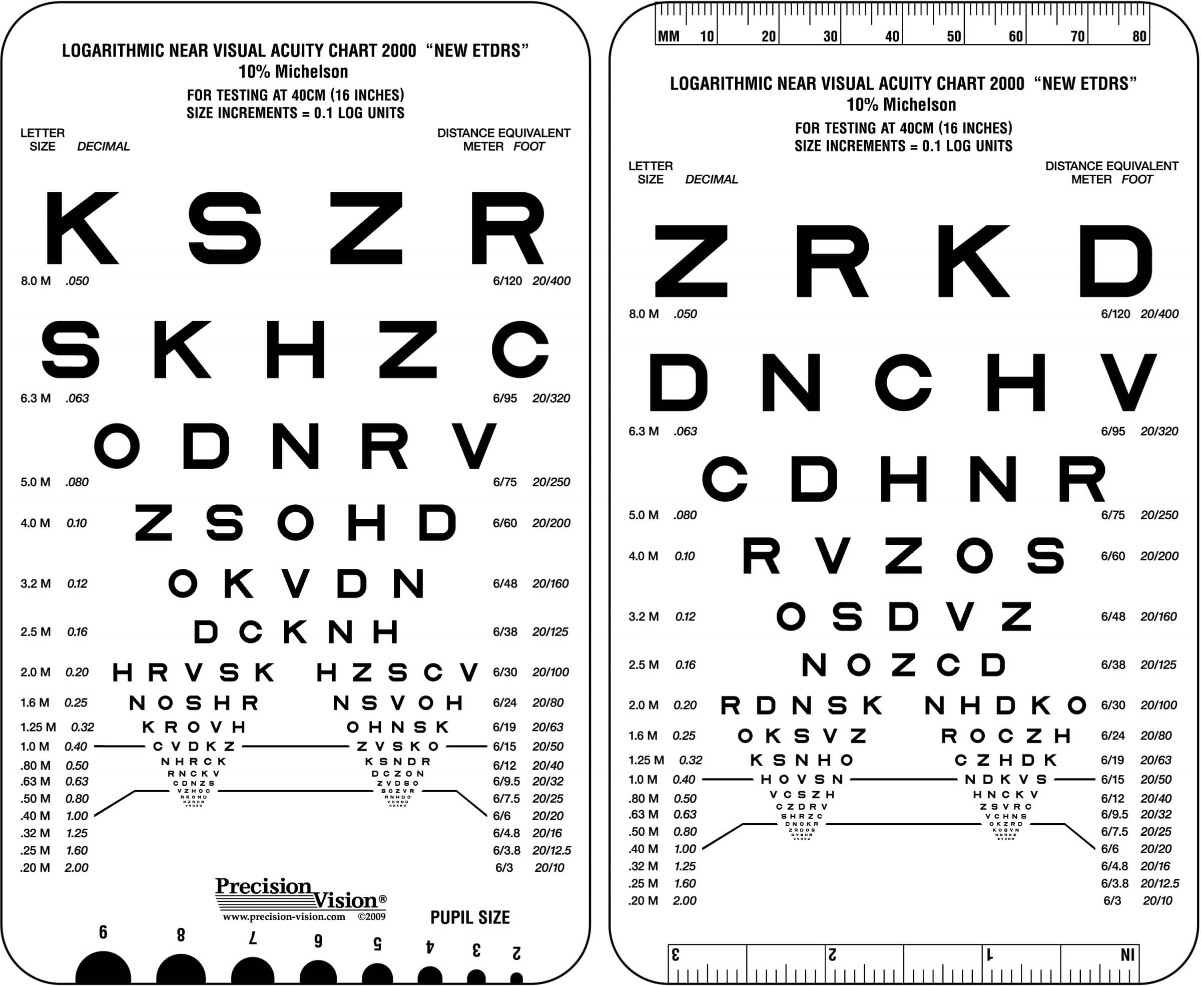 40 cm 16 in near vision low contrast eye charts precision vision 1725 add to cart nvjuhfo Gallery