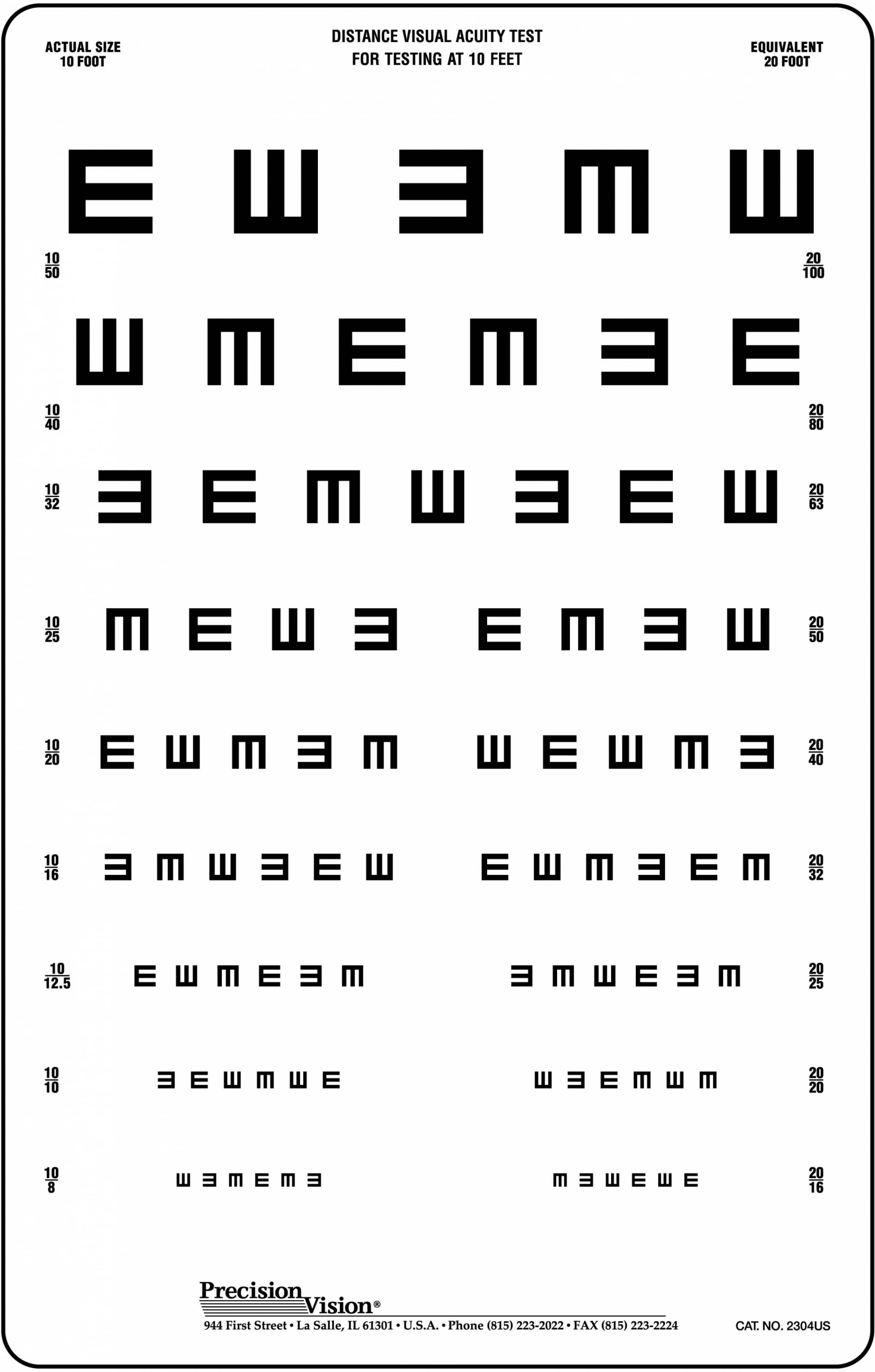 Hotv eye chart 10 ft precision vision 1725 add to cart geenschuldenfo Images