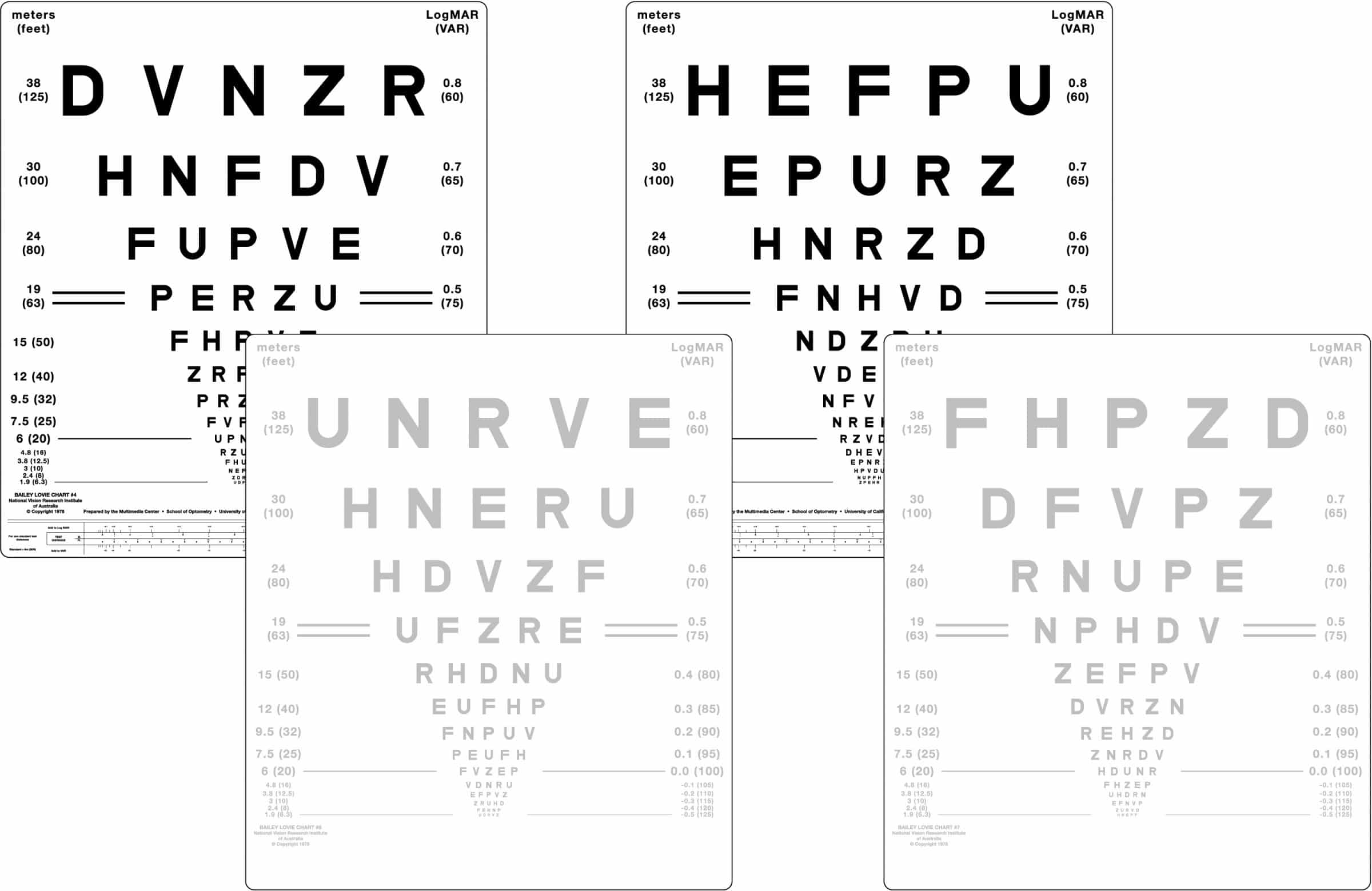 Variable distance variable contrast eye charts precision vision 18500 add to cart nvjuhfo Choice Image