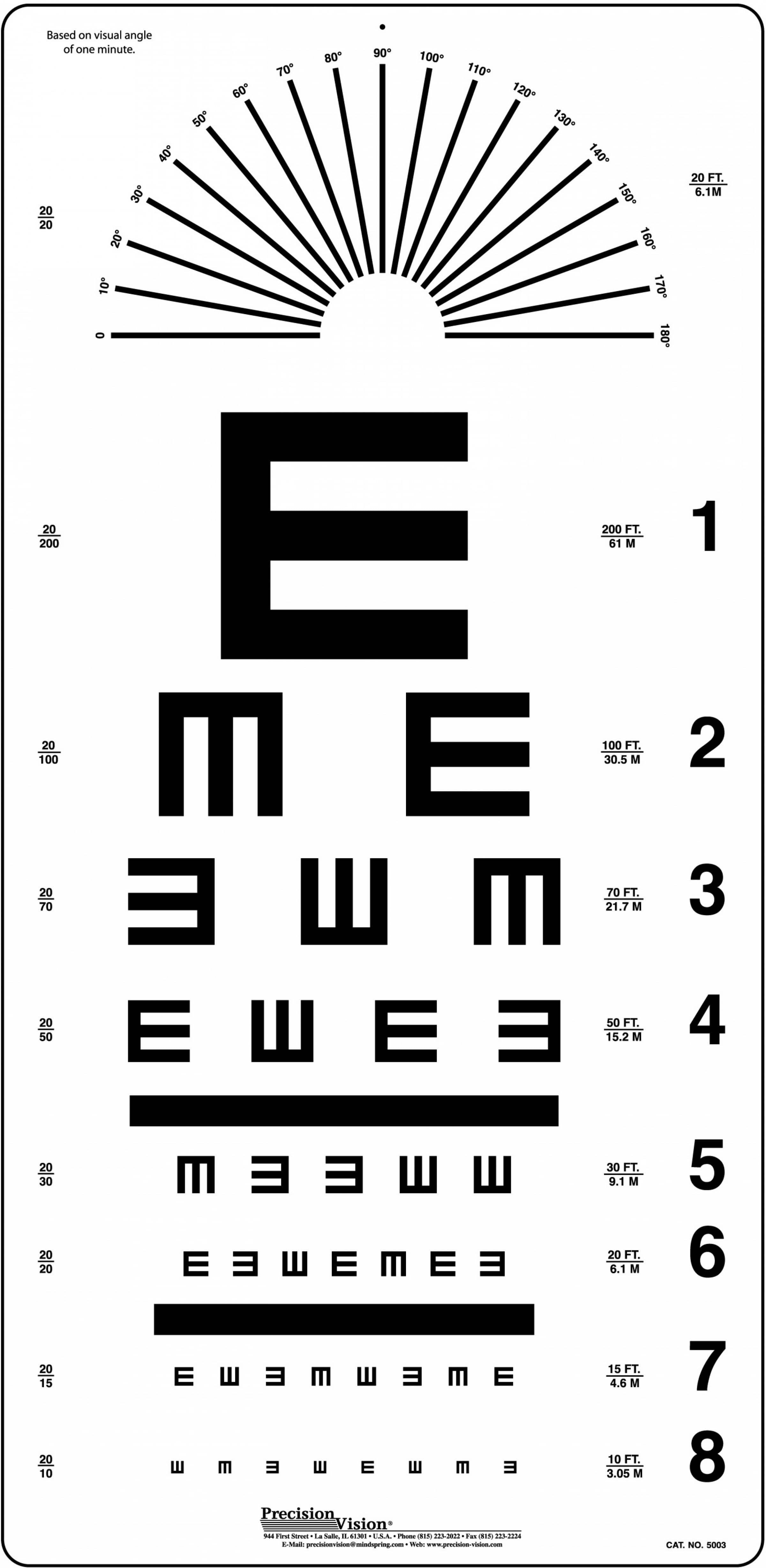 Tumbling e eye chart precision vision tumbling e eye chart geenschuldenfo Choice Image