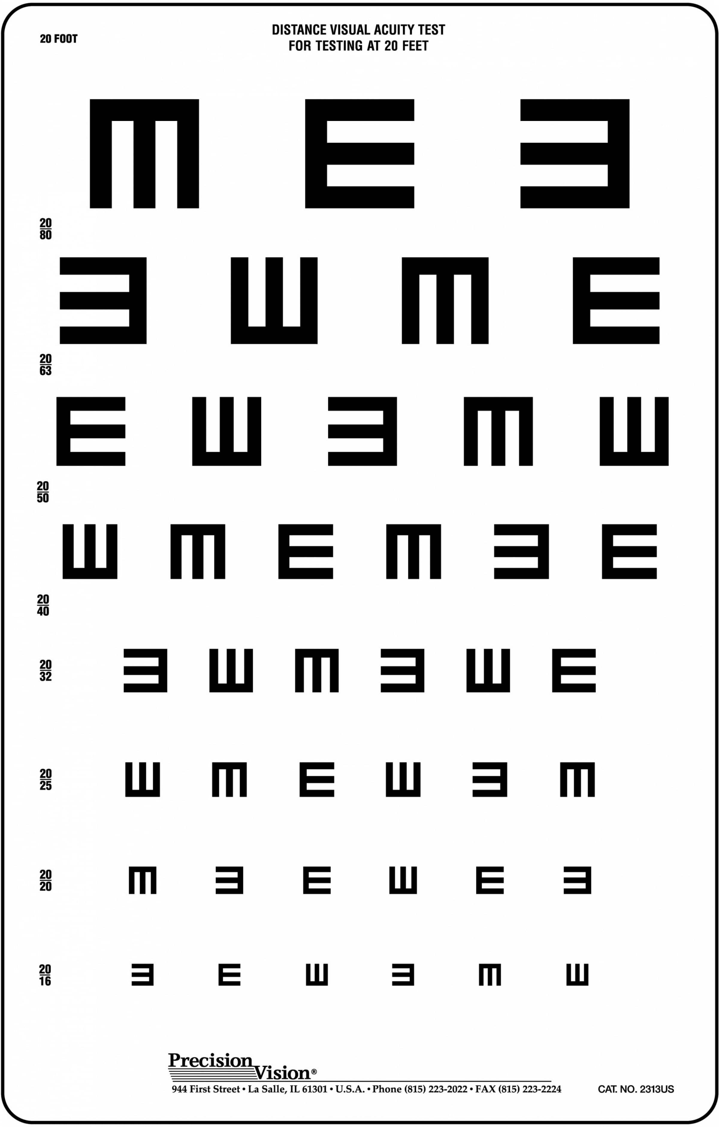 Traditional snellen eye chart precision vision 1725 add to cart nvjuhfo Gallery