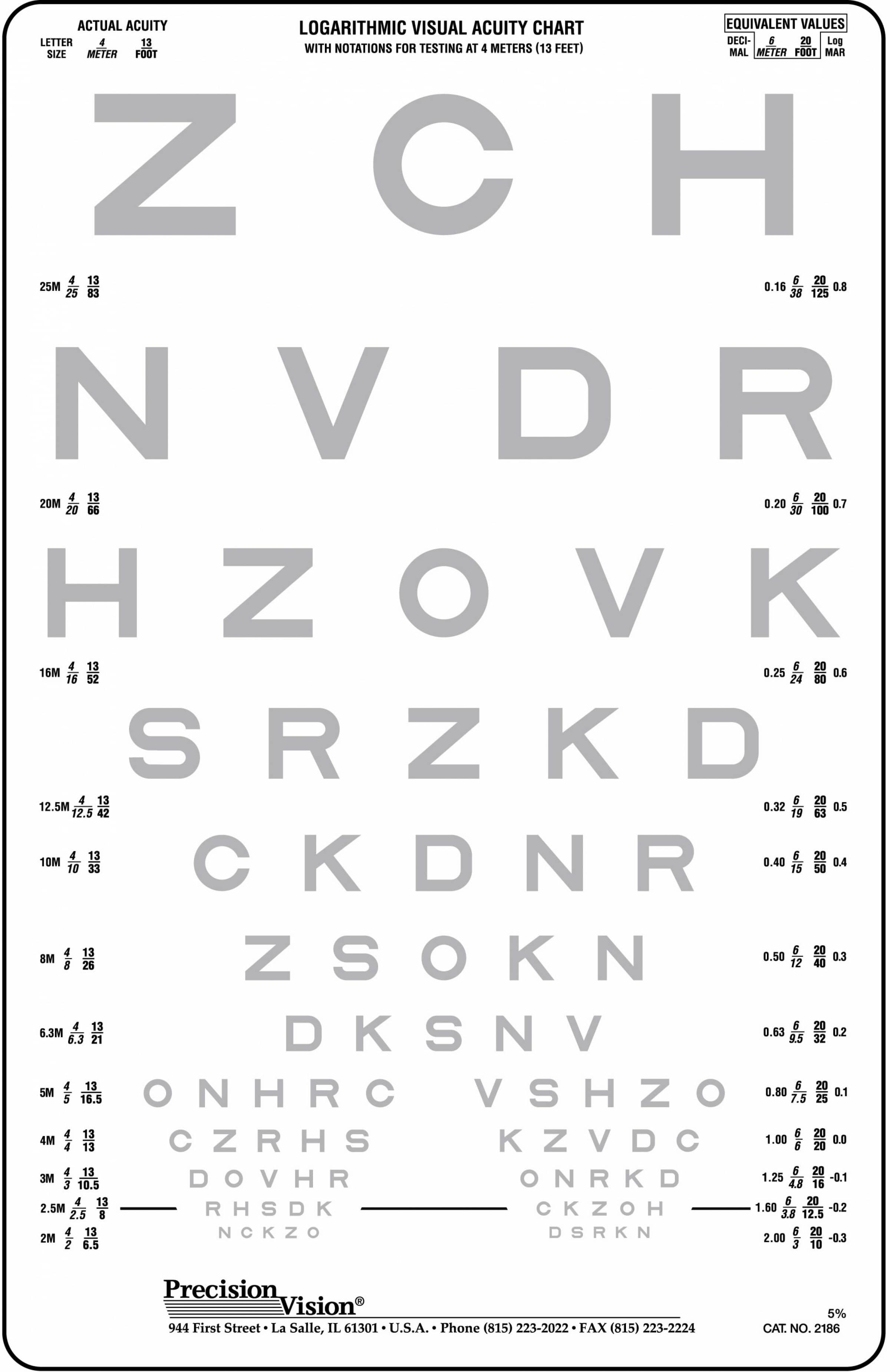4 meter 13 ft low contrast eye charts precision vision 5175 add to cart nvjuhfo Gallery