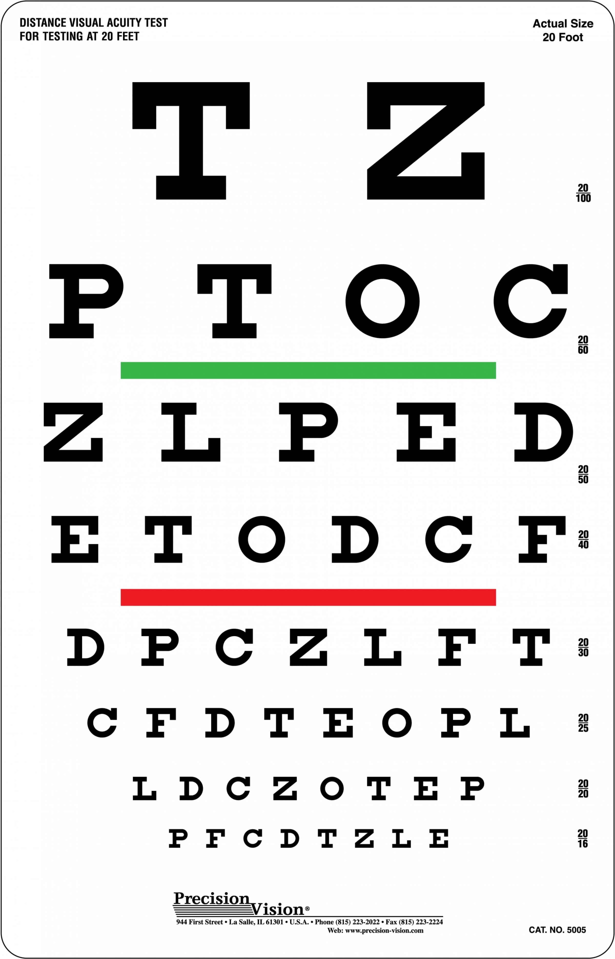 Handy image for eye chart printable
