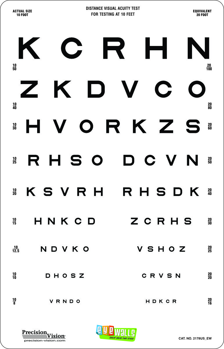 10 foot vision testing charts for school nurses precision vision 1725 add to cart nvjuhfo Gallery