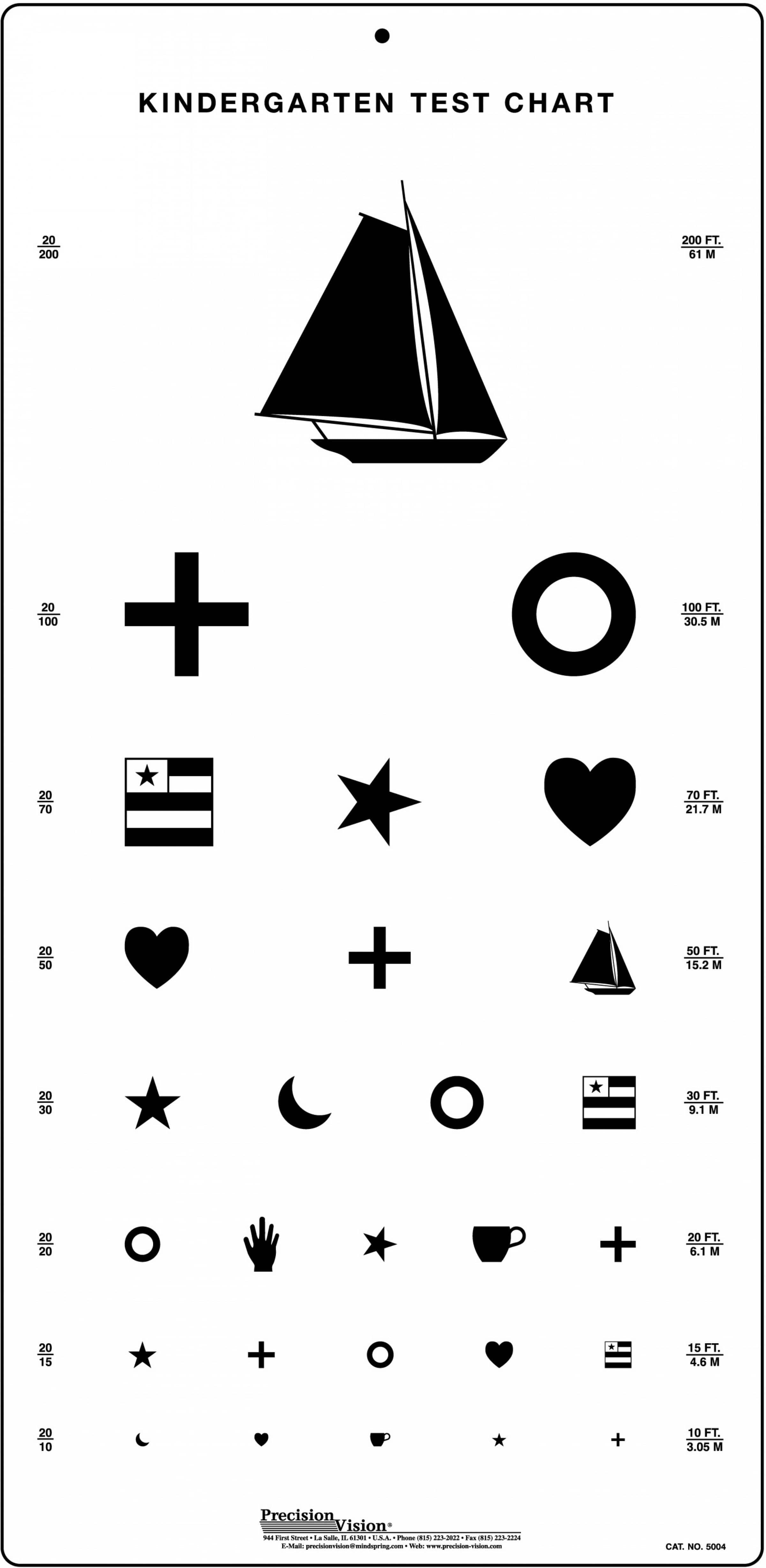 graphic about Eye Chart Printable identified as Kindergarten Eye Consider Chart
