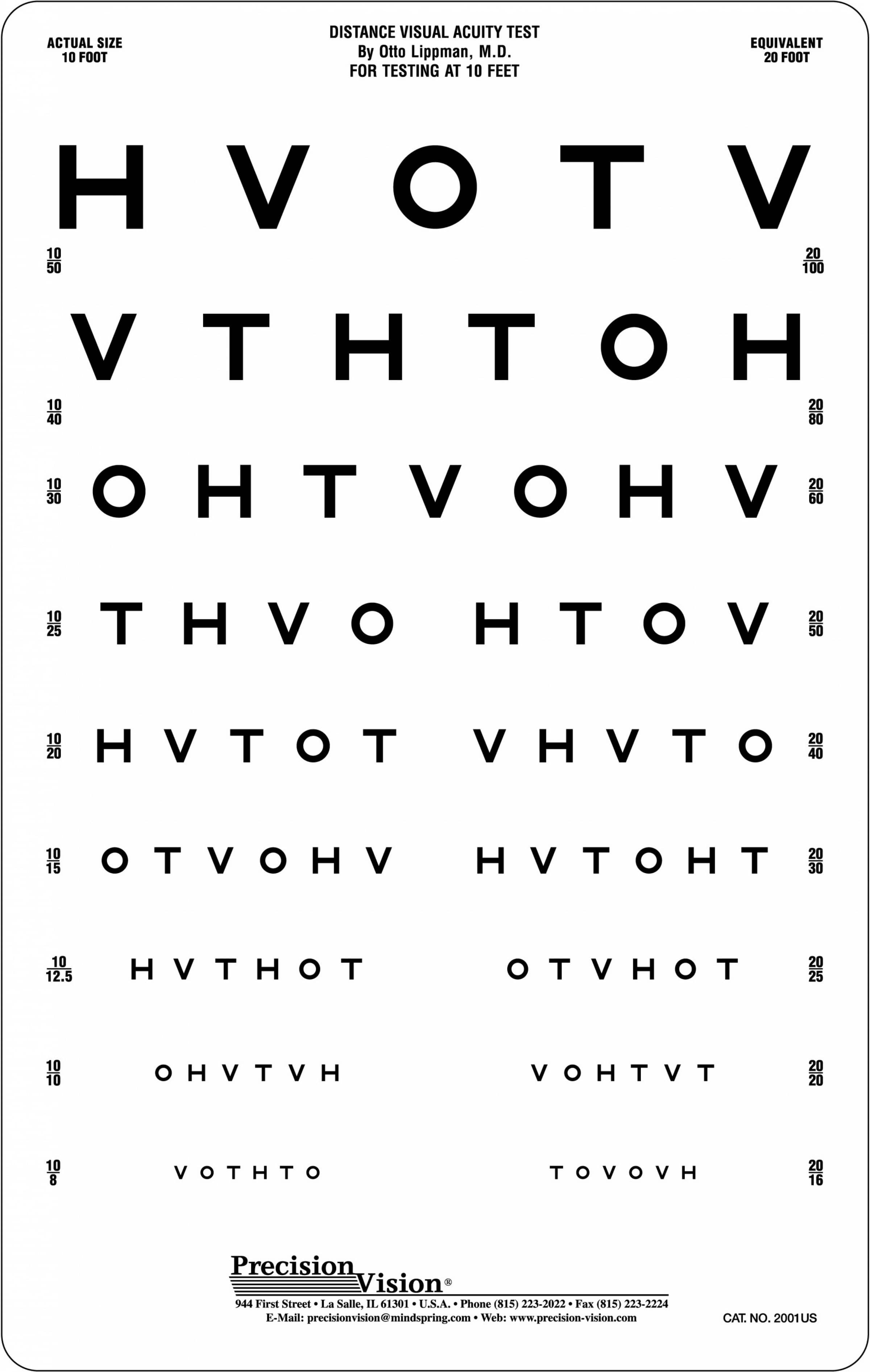 This is an image of Vibrant Printable Vision Test