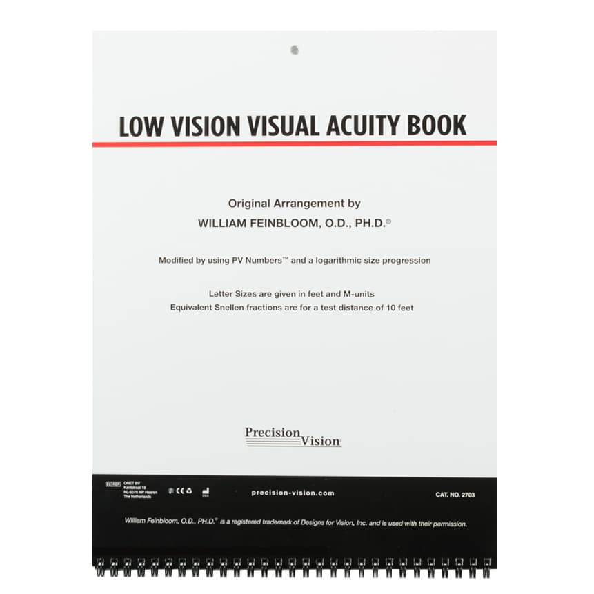 Low Vision Visual Acuity Book - Precision Vision
